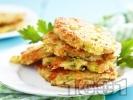 Рецепта Пържени панирани кюфтета от тиквички и магданоз